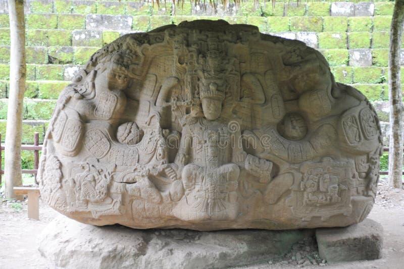 Majski archeologiczny miejsce Quirigua zdjęcia royalty free
