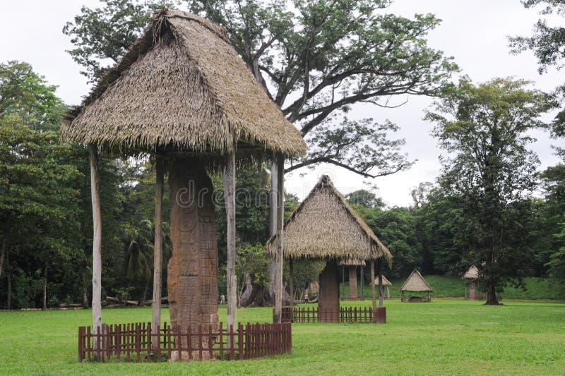 Majski archeologiczny miejsce Quirigua zdjęcia stock