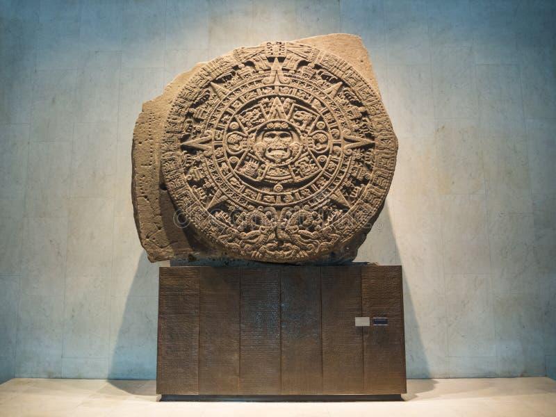 Majski kalendarz, inka, aztek, końcówka światowy proroctwo obrazy royalty free