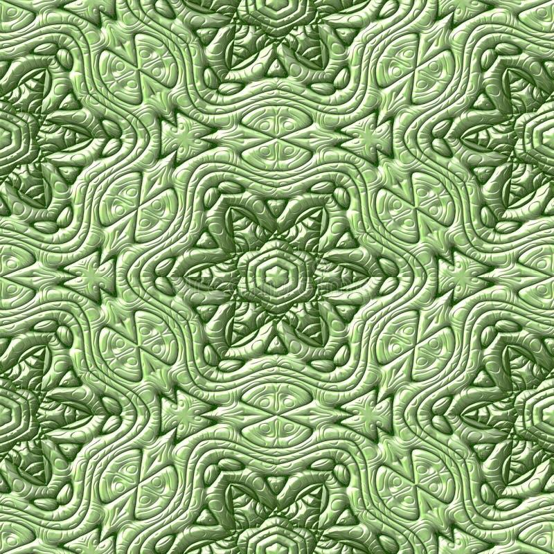 Majskich ornamentów bezszwowi dzierżawienia wytwarzali teksturę royalty ilustracja