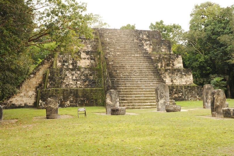 Majskie ruiny Tikal obraz stock