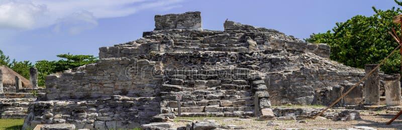 Majskie ruiny w Cancun obraz stock