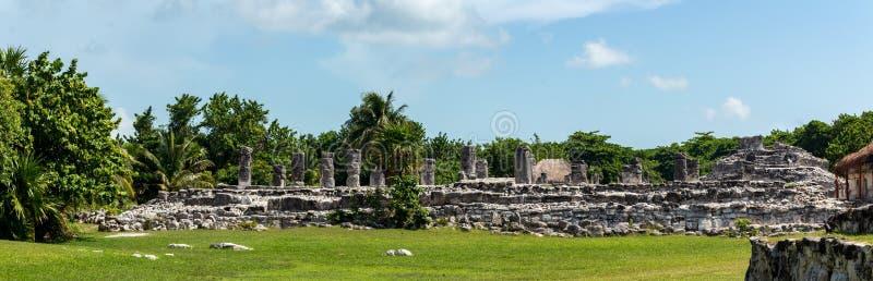 Majskie ruiny w Cancun obrazy royalty free