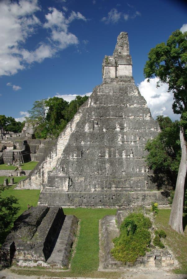 Majskie ruiny w Gwatemala obrazy royalty free