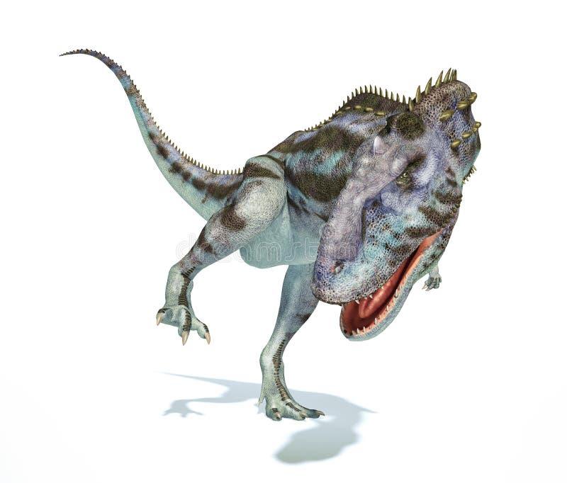 Majungasaurusdinosaurus, photorealistic vertegenwoordiging. Dynamisch v royalty-vrije illustratie