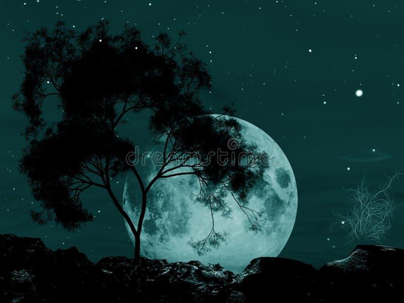 makabryczne moonscape ilustracji