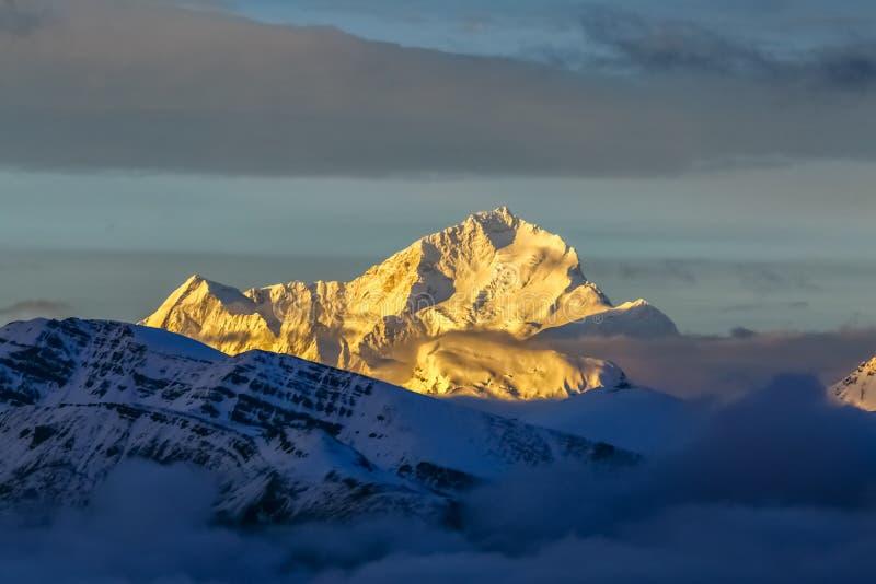Makalu peak stock photo