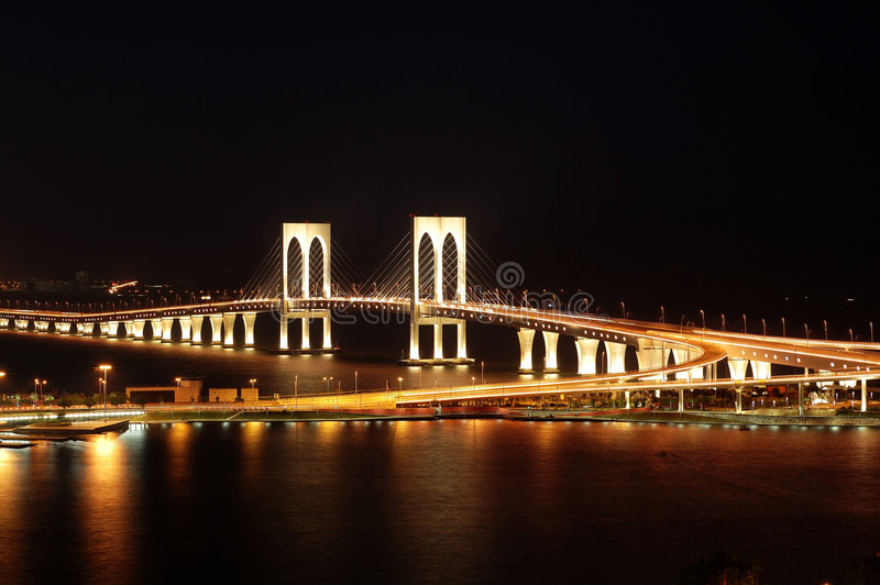 Makao mostu sai wan. zdjęcia royalty free