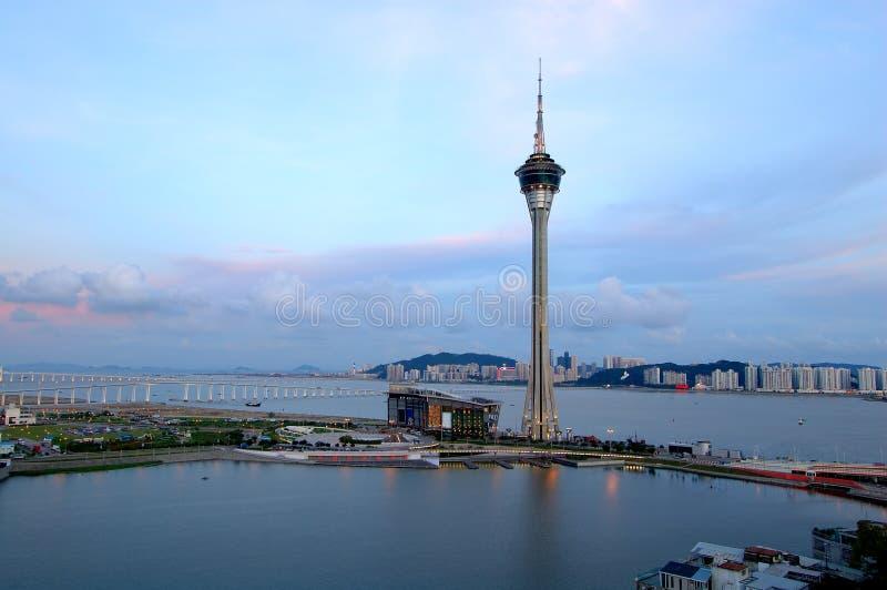 Makao panorama city zdjęcia royalty free