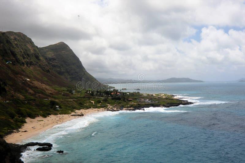 Makapu-` u Strand bei Oahu Hawaii USA lizenzfreie stockbilder
