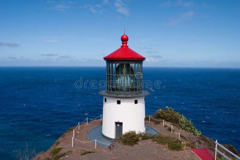 Makapuu Lighthouse, Oahu, Hawaii stock photography