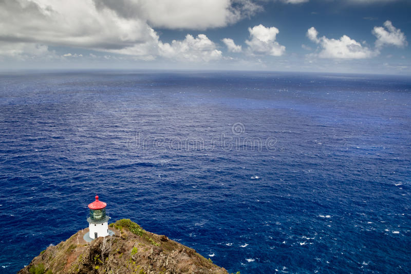 Makapuu Point Lighthouse. On the east coast of Oahu, Hawaii, USA stock photo