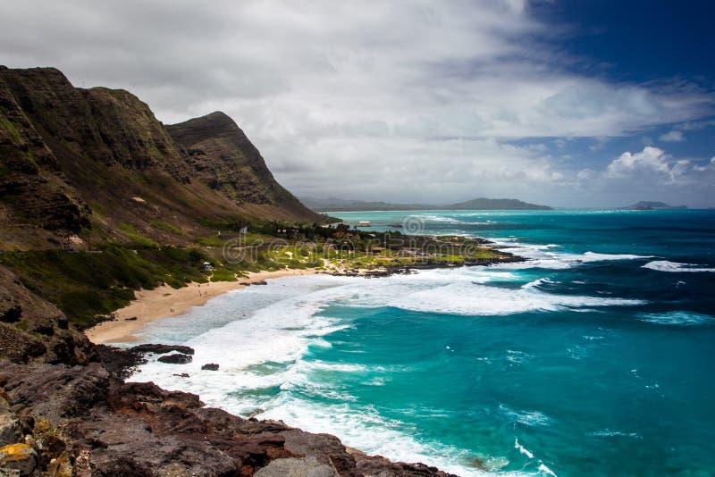 Makapuustrand, Oahu stock foto