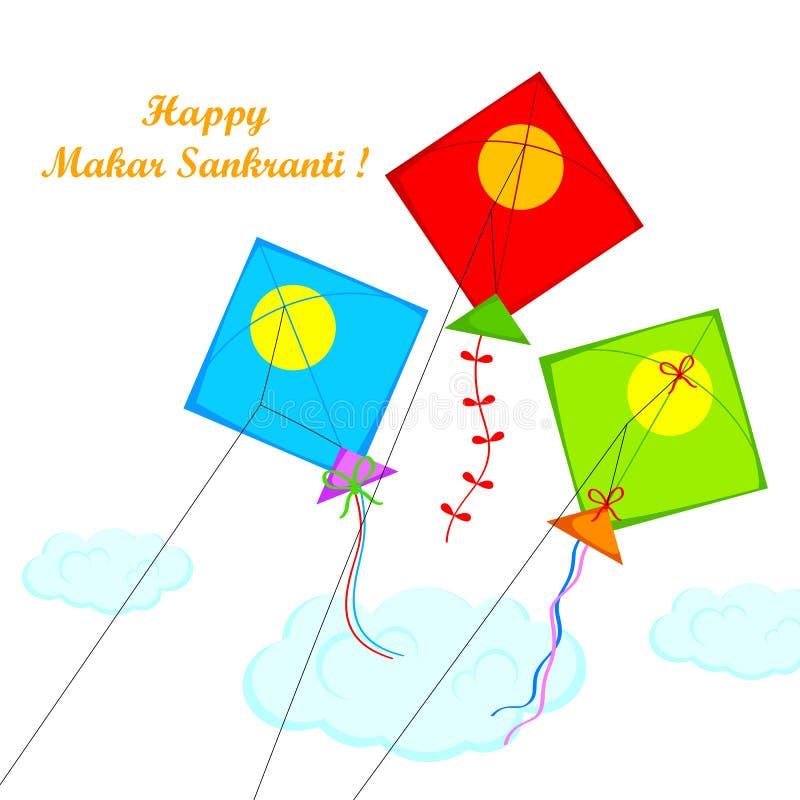 Makar Sankranti stock illustrationer