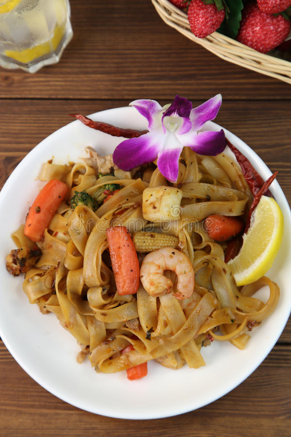 makaron tajski fotografia stock