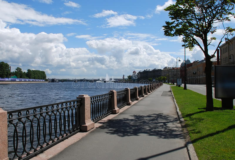 Makarova Embankment St.Petersburg Russia royalty free stock images