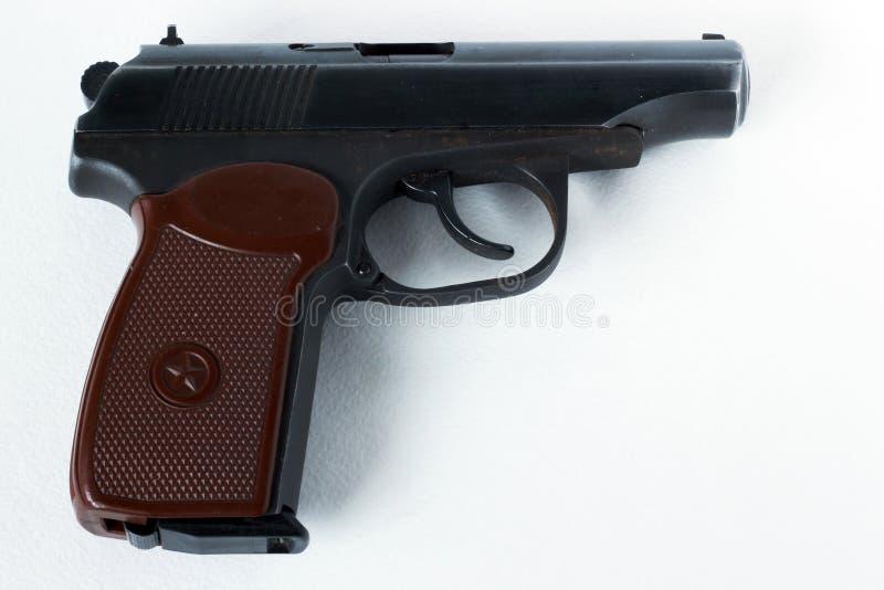 Makarow-Pistole Auf einem weißen Hintergrund lizenzfreies stockfoto