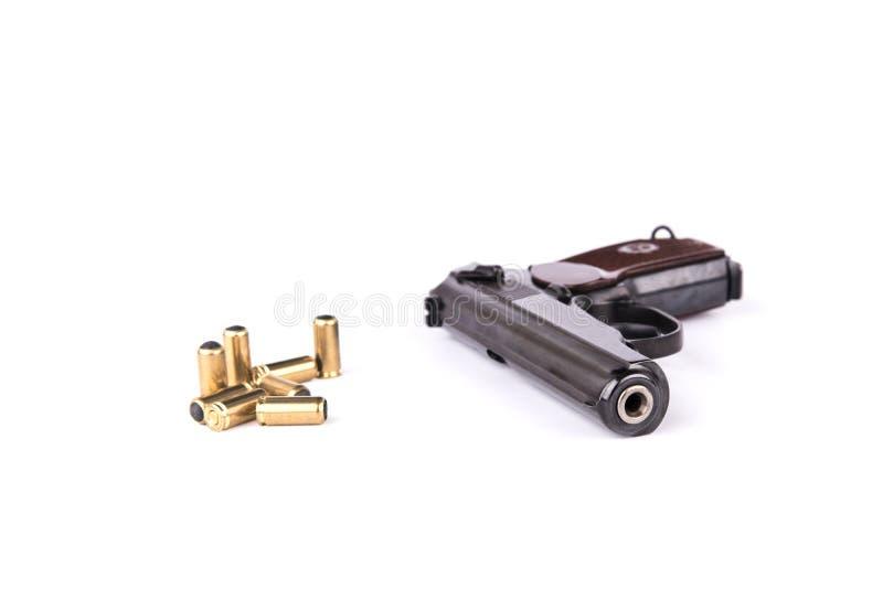 Makarow-Pistole erlaubterweise modifaid zur travmatic Pistole, lokalisiert lizenzfreie stockfotos