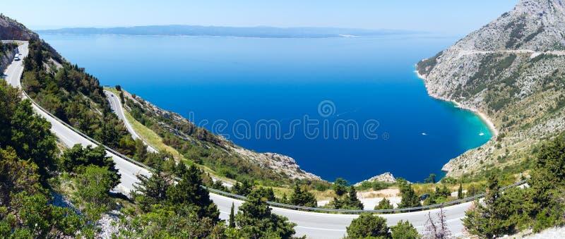 Makarska里维埃拉海岸(克罗地亚) 库存图片