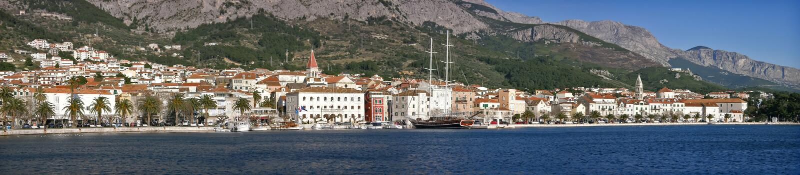 Makarska city in Croatia stock images