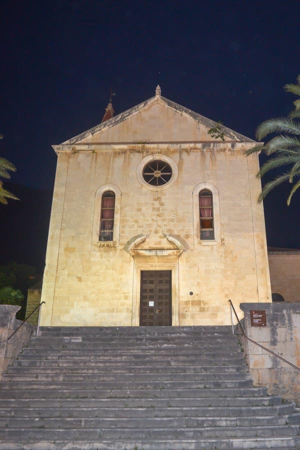 Saint Marka Cathedral in Makarska on June 12, 2019. stock photo