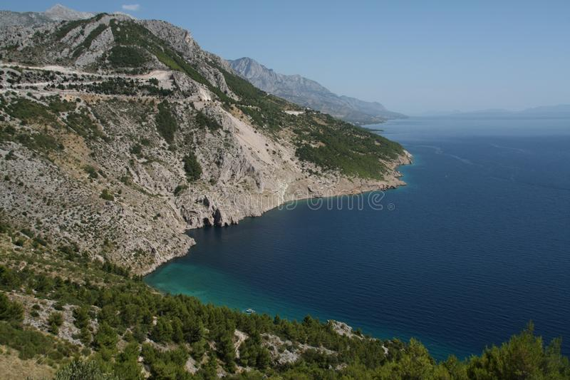 makarska riviera Хорватии стоковое изображение