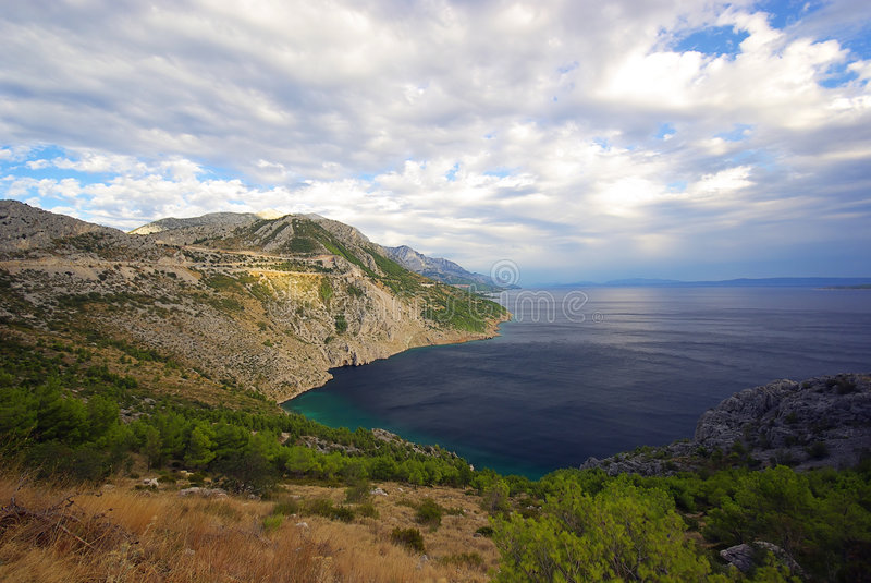 Makarska Riviera 29 arkivfoto