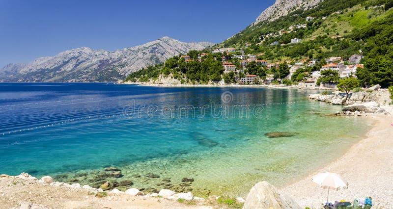 Makarska Riviera, Dalmatia, Chorwacja zdjęcia stock