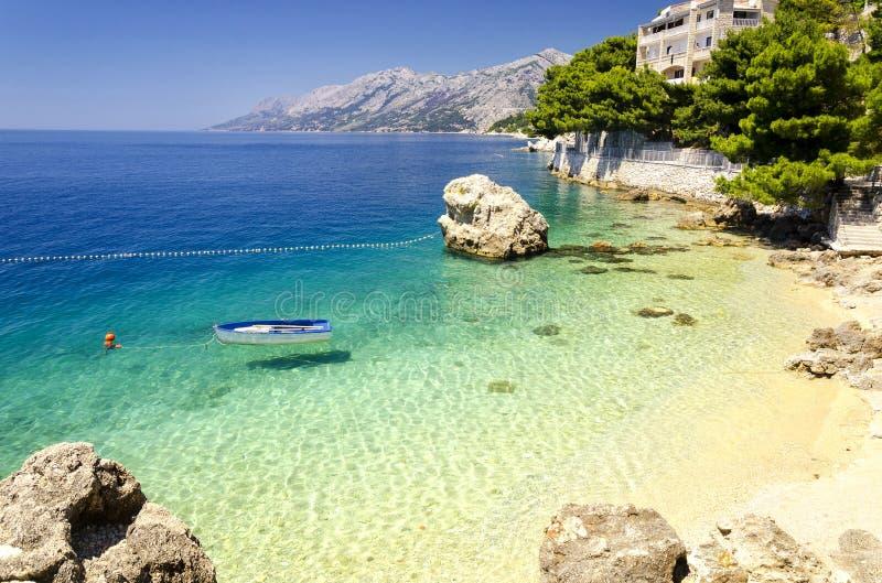 Makarska Riviera, Dalmatia, Chorwacja fotografia royalty free