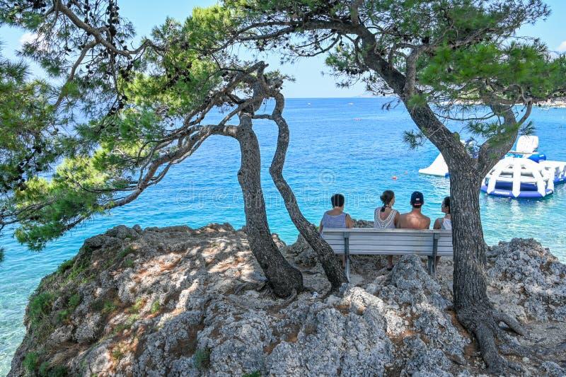 Makarska Riviera przy Brela w Chorwacja zdjęcia royalty free