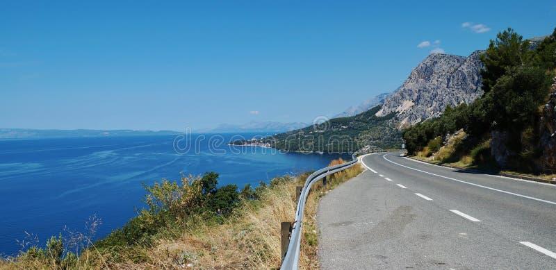 Makarska Riviera w Chorwacja zdjęcie stock