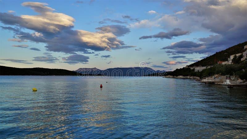 Makarska Riviera w Croatias Adriatyckim wybrzeżu obraz royalty free