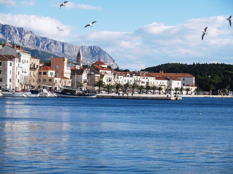 Makarska settlement in Croatia stock photo
