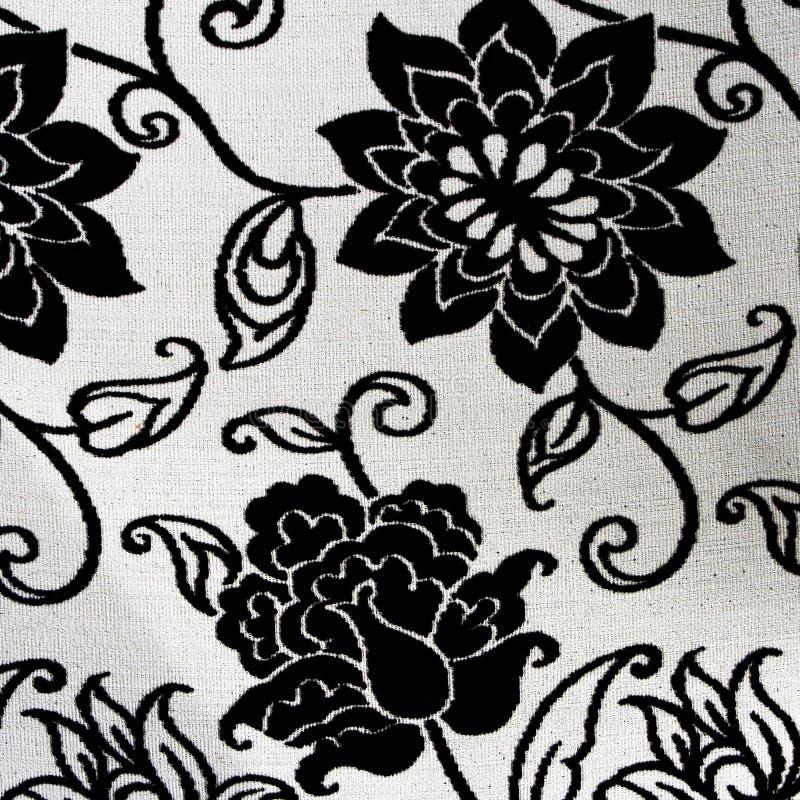 makata czarny kwiecisty ozdobny biel zdjęcia stock