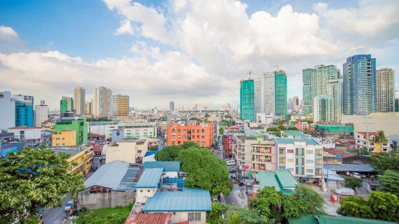 Makati è una città nella regione di Manila della metropolitana delle Filippine e nel hub finanziario del paese s s conosciuta per immagini stock libere da diritti