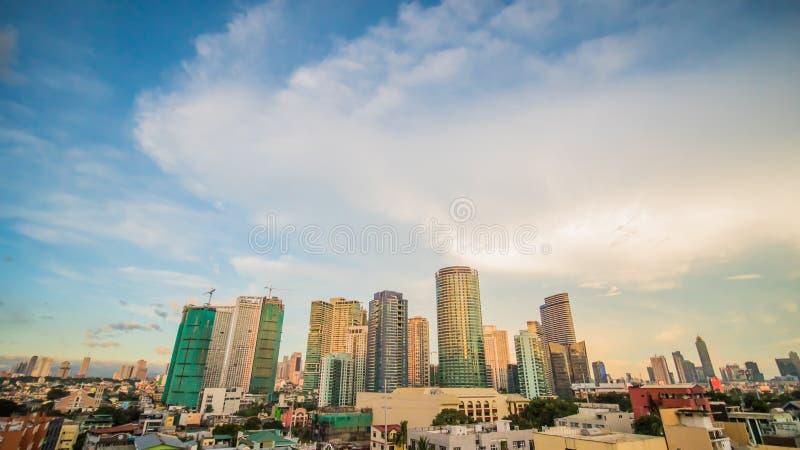 Makati é uma cidade na região de Manila do metro de Filipinas e no cubo financeiro do país s Ele s conhecido para os arranha-céus imagem de stock royalty free