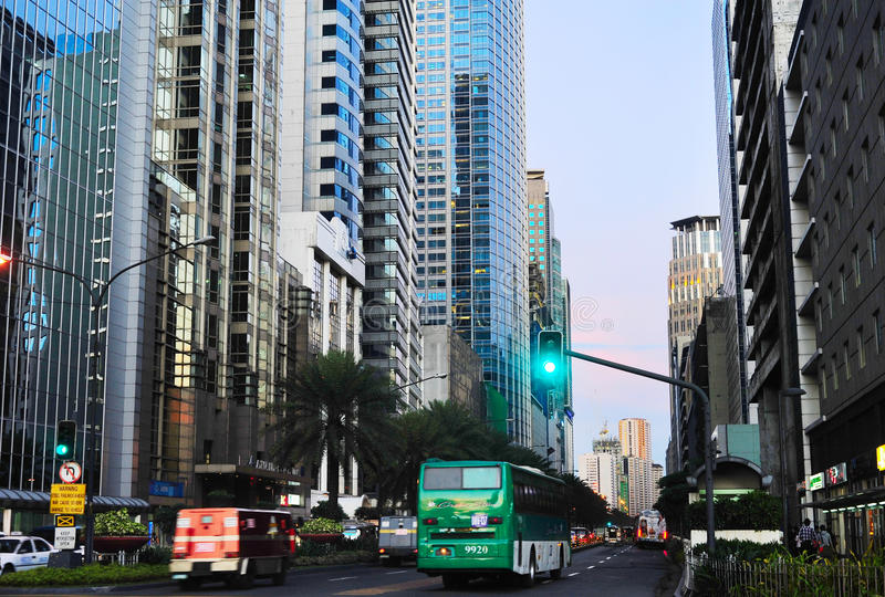 Makati city, downtown of Manila royalty free stock images