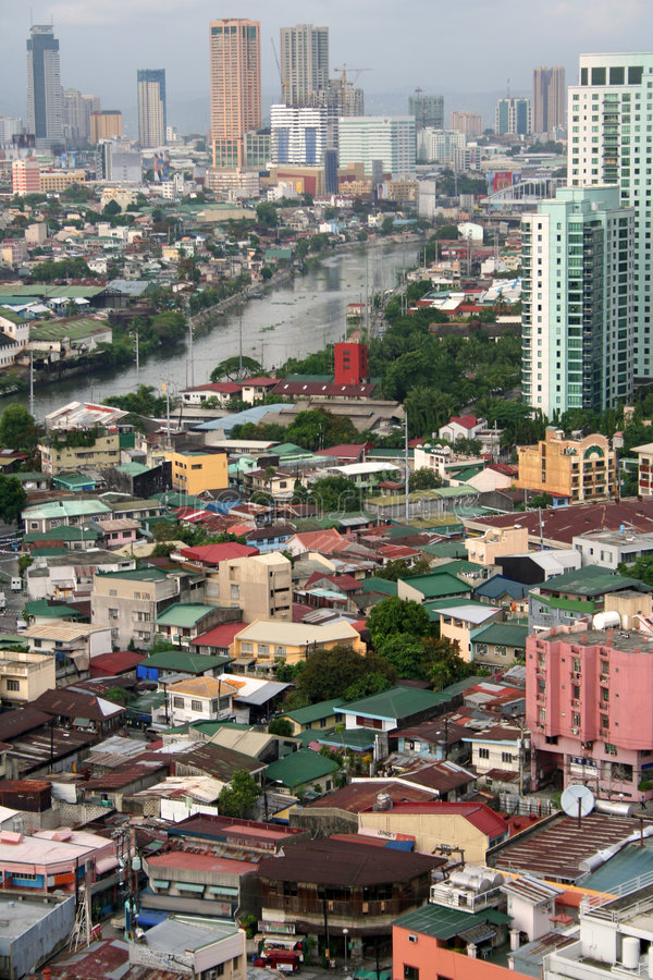Makati city pasig river manila philippines stock photography