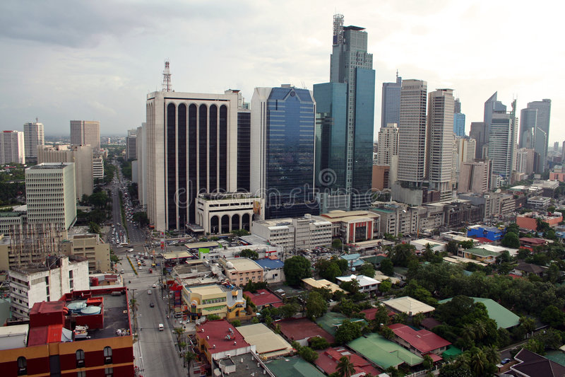 Makati city skyline manila philippines stock image
