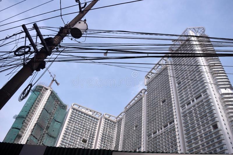 Makati commercial Philippines images libres de droits
