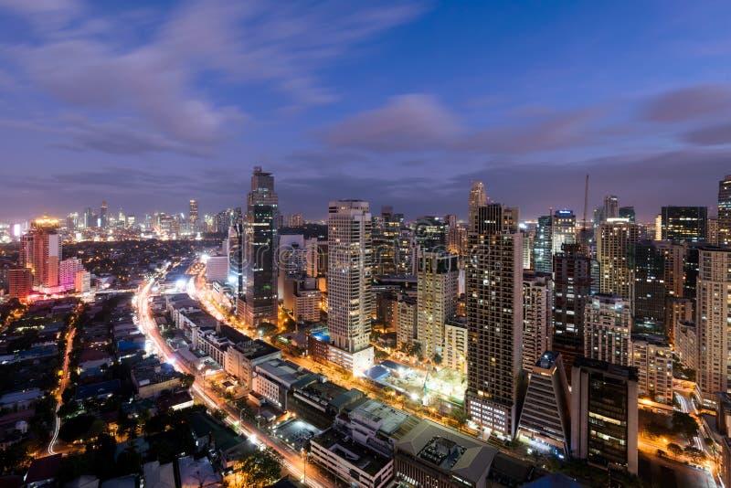 Makati horisont, Manila, Filippinerna royaltyfri bild