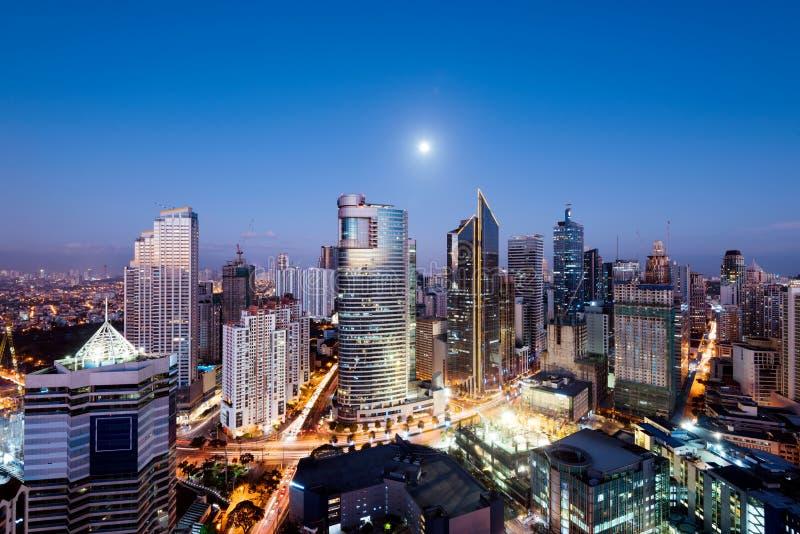 Makati horisont, Manila, Filippinerna royaltyfri fotografi