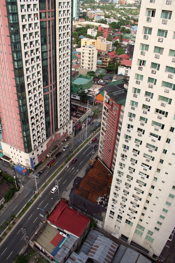 makati Manila Philippines miasta. zdjęcia royalty free
