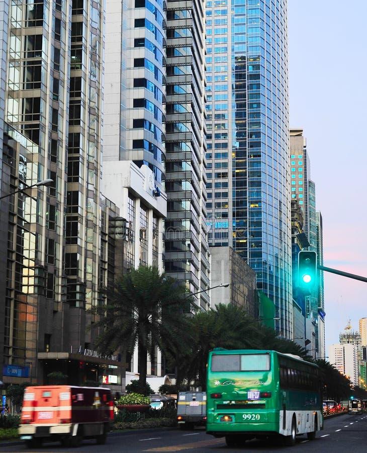 Makati miasta ruch drogowy, Manila fotografia royalty free