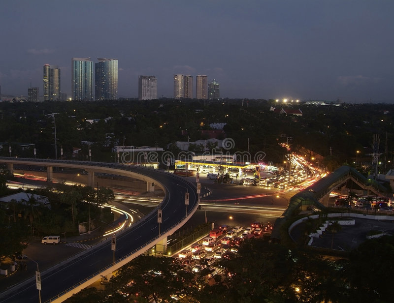 makati Philippines miasta. obraz stock