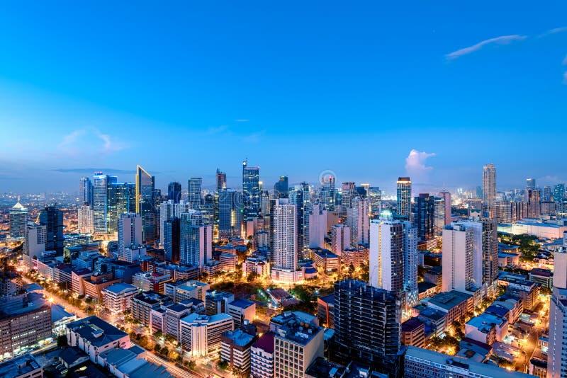 Makati skyline (Manila - Philippines) royalty free stock images