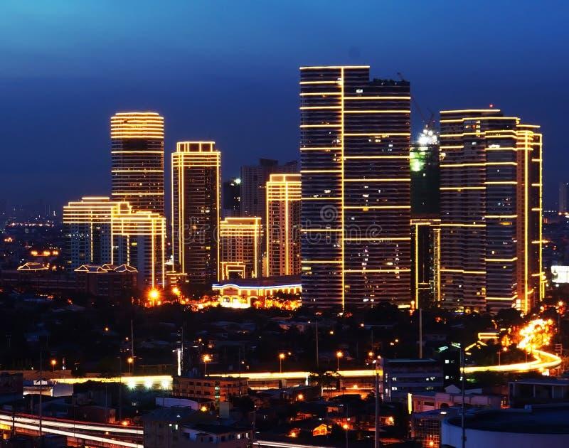 Makati Skyline at night. Picture of Makati Skyline at night in Metro Manila Philippines