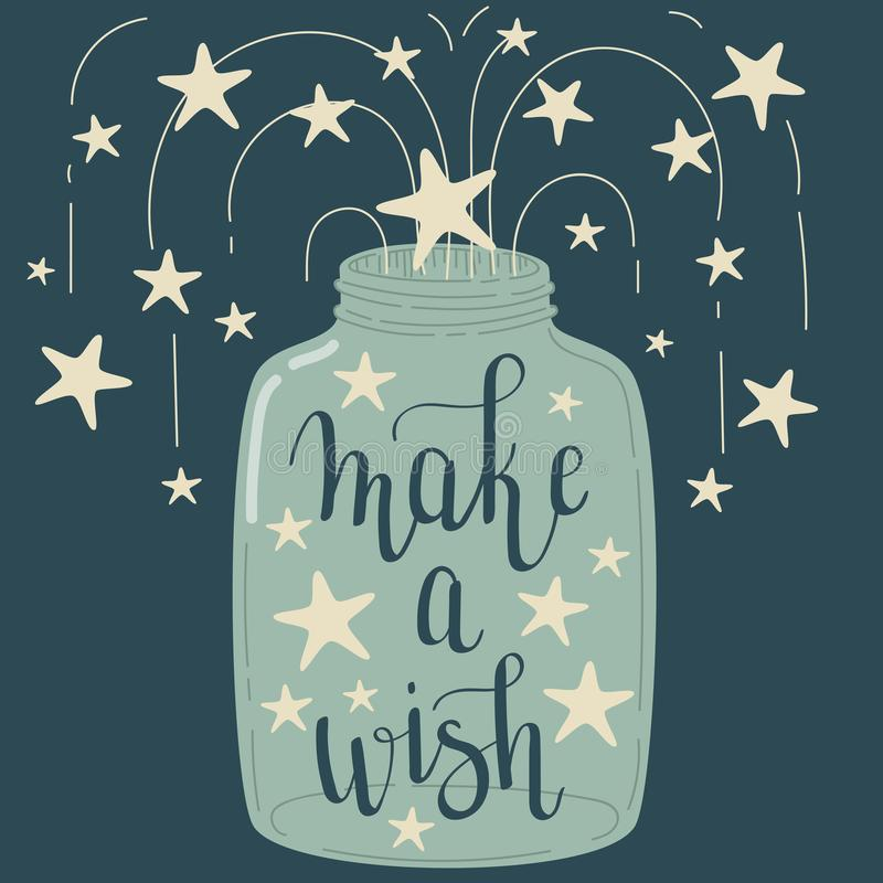 Free `Make A Wish` Hand Lettering Stock Photos - 104776443