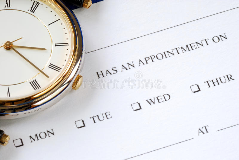 Make an appointment stock image