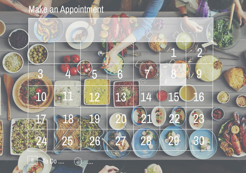 Make an Appointment Calendar Schedule Organization Planning Concept royalty free stock photo